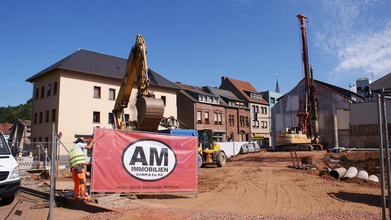 Zufahrt Baustelle Hochwaldstraße