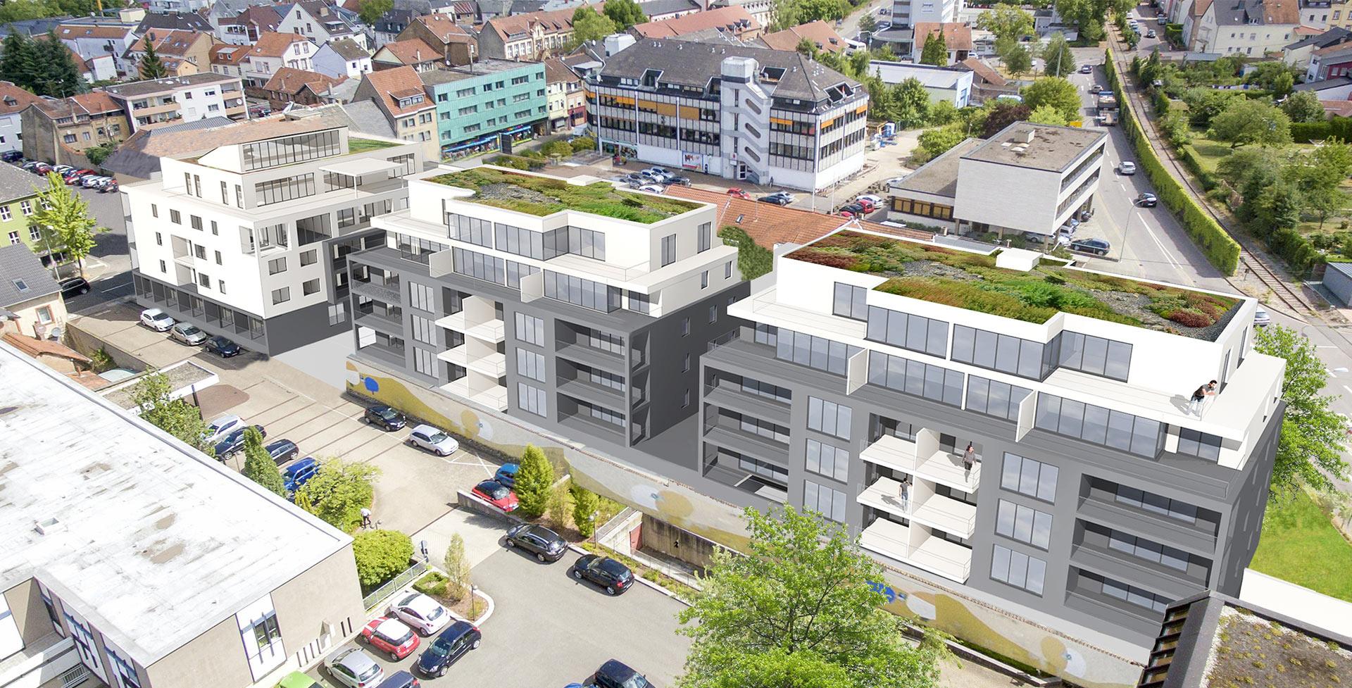 Wohnpark Hochwaldstraße Merzig Draufsicht