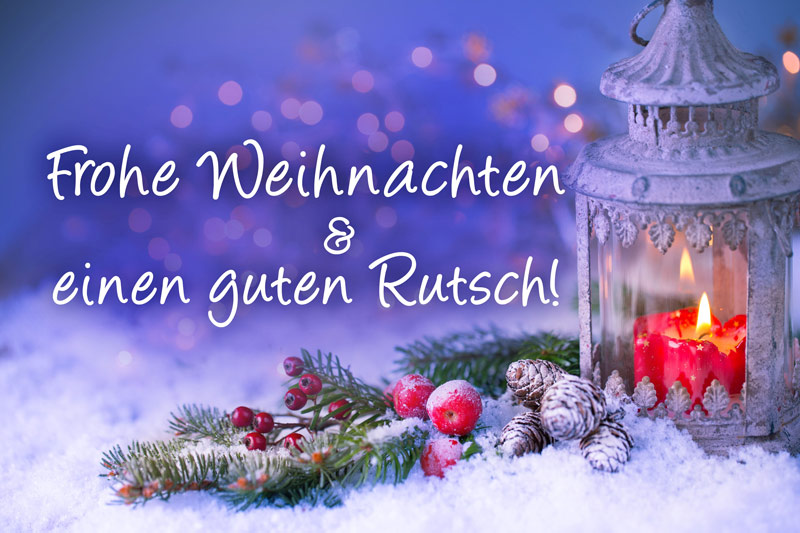 Frohe Weihnachten und ein erfolgreiches neues Jahr
